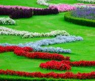 Beautiful flower garden in Schonbrunn palace - Vienna Austria Stock Photos