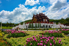 Beautiful flower gardens at Royal Park Rajapruek in Chiang Mai, Thailand Royalty Free Stock Photography