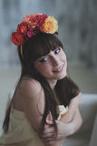 Beautiful flower girl Royalty Free Stock Photography