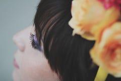 Beautiful flower girl Royalty Free Stock Photo