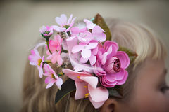 Beautiful flower girl's hair Royalty Free Stock Photos
