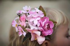 Beautiful flower girl's hair Royalty Free Stock Photos