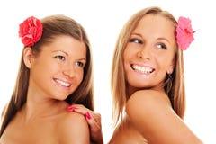 beautiful flower girls Стоковое Изображение RF