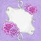 Beautiful flower greeting card design. Stock Image