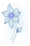 Beautiful flower. Hand drawn  illustration Stock Images