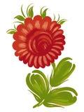 Beautiful flower. Hand drawn, , illustration in Ukrainian folk style stock illustration