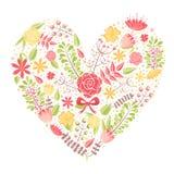Beautiful flower heart postcard Stock Photo