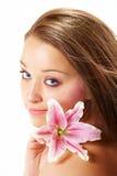beautiful flower lily woman Στοκ εικόνα με δικαίωμα ελεύθερης χρήσης
