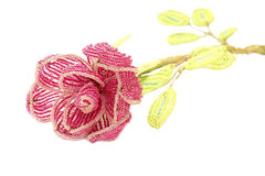 Beautiful flower made from colorful beads Stock Photography