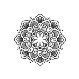 Beautiful flower mandala. vector illustration