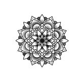Beautiful flower mandala. royalty free illustration
