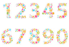 Beautiful flower numbers Stock Photo
