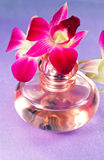 Beautiful flower Orchid and perfume royalty free stock photography