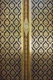 Beautiful flower pattern painting on door Stock Image
