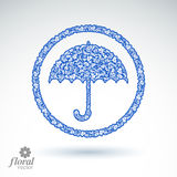Beautiful flower-patterned umbrella. Stylized accessory Royalty Free Stock Images