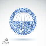 Beautiful flower-patterned umbrella. Stylized accessory – crea Royalty Free Stock Image