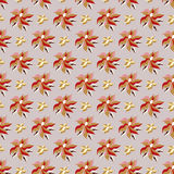 Beautiful flower petals on a gray background seamless pattern vector illustration Stock Images
