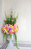 Beautiful flower pot for decor Stock Photo