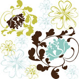 Beautiful flower vector Royalty Free Stock Photo
