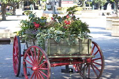 Beautiful Flower Wagon Royalty Free Stock Photography