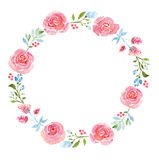 Beautiful flower watercolor wreath vector illustration