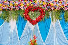 Beautiful flower of wedding decoration Stock Images