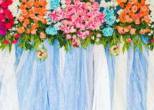 Beautiful flower wedding decoration Stock Photos