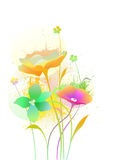 Beautiful flowers. Bouquet from 3 beautiful flowers royalty free illustration