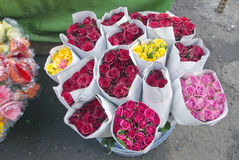 Beautiful flowers in asia market, India Stock Photo
