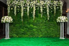 Beautiful flowers background for wedding. Scene Stock Photo