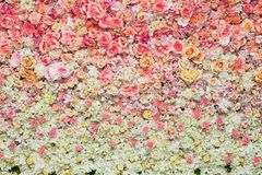 Beautiful flowers background for wedding. Scene Royalty Free Stock Photos
