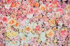 Beautiful flowers background for wedding. Scene Royalty Free Stock Images