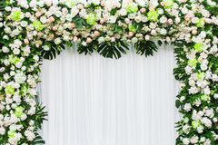 Beautiful flowers background for wedding. Scene Royalty Free Stock Photo