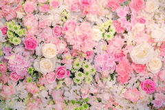 Beautiful  flowers background for wedding scene. Royalty Free Stock Photography