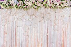 Beautiful flowers background for wedding scene Royalty Free Stock Image