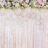 Beautiful flowers background for wedding scene Stock Images
