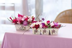 Beautiful flowers bouquets decor Stock Images