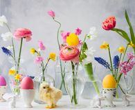 Festive Easter table decoration Royalty Free Stock Photos