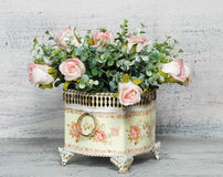 Beautiful flowers in a flowerpot Stock Images