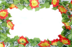 Beautiful flowers frame Stock Photos