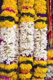 Beautiful flowers garland in asia, Mumbai, India Royalty Free Stock Image