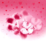 Beautiful flowers and hearts Royalty Free Stock Photos