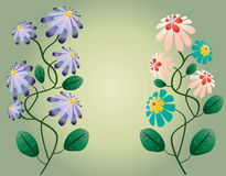 Beautiful flowers  illustration Stock Photo