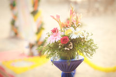 Beautiful flowers on indian wedding Royalty Free Stock Photos