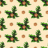 Beautiful flowers on a light background seamless pattern Royalty Free Stock Images