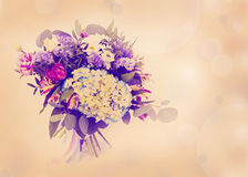 Beautiful flowers made with color filters. Beautiful flowers bouquet made with color filters Royalty Free Stock Photography