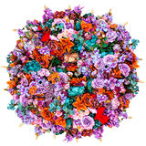 Beautiful flowers ornamental in the shape of sphere Stock Image