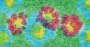 Painted flowers on fabric Royalty Free Stock Photography