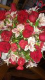 Beautiful flowers for 40& x27;s anniversary royalty free stock images