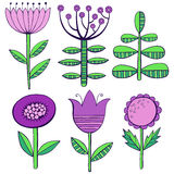 Beautiful  Flowers set. Vector Illustration. Beautiful Flowers set. Vector Illustration Stock Image